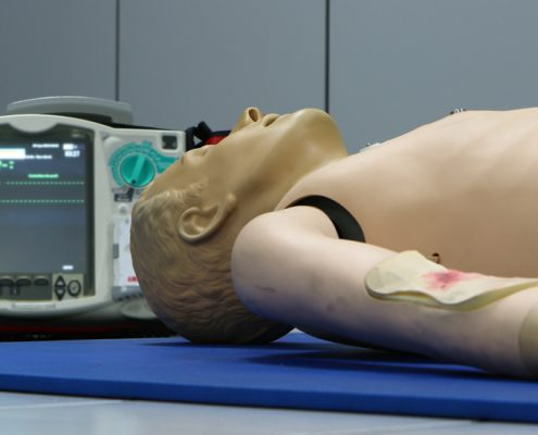 Defibrillator and CPR training provided by GSTS Security Services and SIA training in Liverpool Merseyside