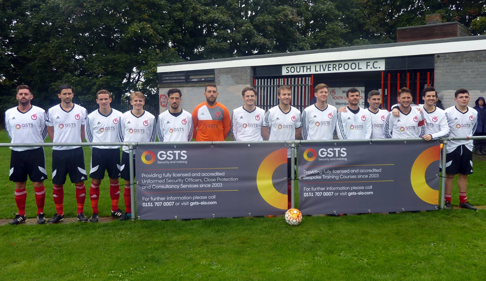 south liverpool fc security and sponsored by gsts
