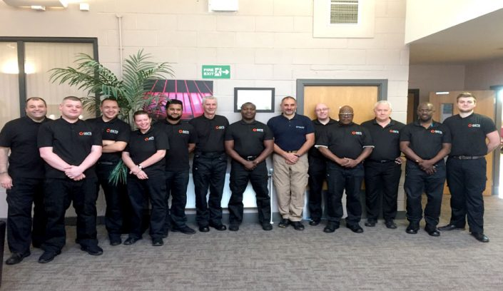 GSTS Security guards doing their SIA license. Control and Restraint course in Liverpool